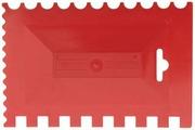 Шпатель пластмассовый комбинированный для клея Bauwelt 17x11 17 17