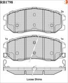 Дисковые Тормозные Колодки R Brake R BRAKE арт. RB1798