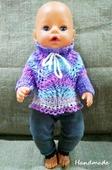 Одежда для куклы Baby Born - Василёк Krispy Handmade розовая