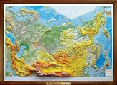 Рельефная карта России. Деревянная рама, арт. К15 Тестплей