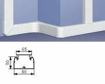 Профиль кабель-канал 50x80 - 1 секция - 1 крышка 65 мм - длина 2 метра. Цвет Белый. Legrand DLP (Легранд ДЛП). 010419