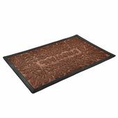 """Рельефный полипропиленовый коврик Vortex Grass """"Welcome"""" (22523) коричневый, 50x80 см"""