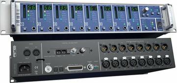 """RME Micstasy - 8 канальный микрофонный и линейный/инструментальный предусилитель, управляемый с пульта ДУ, 24 Bit / 192 kHz, 19"""", 2U (I64 MADI карта - приобретается отдельно)"""