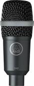 AKG D40 микрофон для духовых, барабанов, перкуссии и гитарных комбо динамический кардиоидный, разъём XLR, частотный диапазон 75-17000Гц, чувствительность 2,2мВ/Па, импеданс 200Ом, рекомендованная нагрузка 2000Ом, в комплекте чехол и адаптер H440, цвет тё