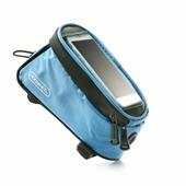 Велосипедная сумка Roswheel на раму размер M (8.5х8.5х18.5 см, голубой/чёрный)