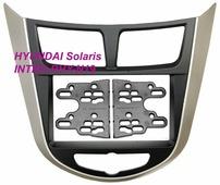 Переходная рамка для установки магнитолы Incar RHY-N19 - Переходная рамка Hyundai Solaris 2011-2017