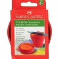 Faber-Castell Стакан для рисования CLicGo складной, розовый
