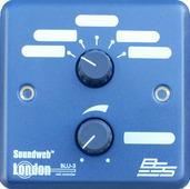"""BSS BLU-3 Настенный контроллер. 5-позиционный селектор """"источник/пресет"""" и регулятор громкости. Цвет синий."""
