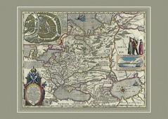 Карта России Гесселя Герритса, 68х48 см