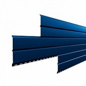 Сайдинг наружный металлический МеталлПрофиль Lбрус Citrine Тёмно-синий 2м (Purman, 0,5мм, глянец.)