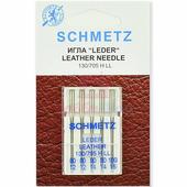 Набор игл кожа SCHMETZ LEDER LEATHER CUIR №80-100 (5 шт.)