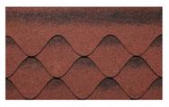 Гибкая битумная черепица Kerabit S+ Красно-черный