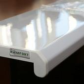 Подоконник ПВХ Danke Komfort Белый (глянцевый) 400мм