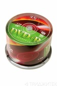 Записываемый компакт-диск VS DVD+R 4.7Gb 16x CB/50, 1 штука