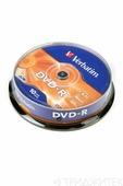 Записываемый компакт-диск Verbatim 43523 DVD-R 4.7Gb 16x CB/10, 1 штука