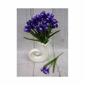 Цветок искусственный Крокус ветка х3 30см ML065759