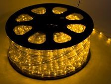 Светодиодный дюралайт 36LED 220-240В 13мм Желтый Фиксинг
