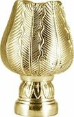 """Наконечник для карниза Уют """"Тюльпан"""" 22.21ТО.5100, латунь, диаметр 20 см, 2 шт"""