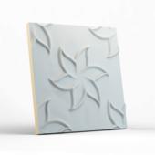 Стеновая гипсовая 3D панель – Лилии, 500х500mm