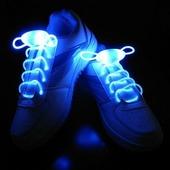 Светящиеся шнурки Baziator с LED подсветкой синие