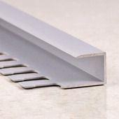 П образный профиль для плитки 7мм серебро