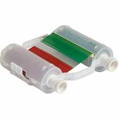 Риббон Brady B30-R10000-KRGB-8 многоцветный, черный-красный-зеленый-синий, 110 мм х 60.9 м, длина плашки 200 мм {gws1408...