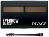 """DIVAGE Набор для моделирования бровей """"EYEBROW styling kit"""", тон 01, 6г"""