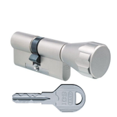 Цилиндровый механизм EVVA ICS ключ-вертушка никель 46x31