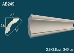 Лепнина Перфект Потолочный плинтус гладкий AB249