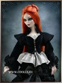 Tonner Mortuary Madness Blouse (Черная блузка на шнуровке для куклы Эванджелин от Тоннер)