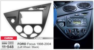 Переходная рамка для установки магнитолы CARAV 11-548 - FORD Focus 1998-2004 (Black) - 2DIN