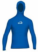 Мужская гидромайка с капюшоном и длинным рукавом iQ Uv Shirt Watersport L/s Blue