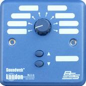 """BSS BLU-6 Настенный контроллер. 8-позиционный селектор источник/пресет"""" и кнопочный переключатель """"вверх/вниз"""". Цвет синий."""