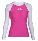 Женская гидромайка с длинными рукавами iQ Uv Shirt Watersport L/s White/pink