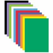Цветная пористая резина для творчества (пенка в листах), А4, 210х297 мм, BRAUBERG, 10 листов, 10 цветов, радуж