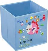 """Кофр для хранения Handy Home """"Рыбка"""", с аппликацией, цвет: голубой"""