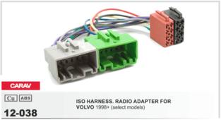 Переходник для подключения магнитолы CARAV 12-038 - ISO-переходник для VOLVO 1998+