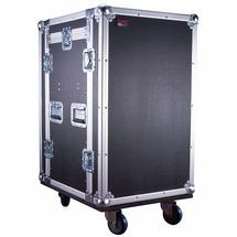 GATOR G-TOUR 10X14 PU -рэковый флайт-кейс, 10U верх,14U низ, на колесах,дерево,черный, вес 48,02кг