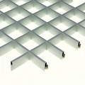 Потолок грильято Люмсвет металлик серебристый 60*60*30 мм