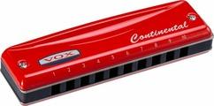 VOX Continental Type-2-G Губная гармоника, тональность Соль мажор, цвет красный