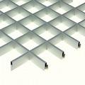 Потолок грильято Люмсвет металлик серебристый 120*120*30 мм
