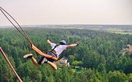 Роупджампинг/Тарзанка - экстремальный прыжок с веревкой с вышки высотой 50м