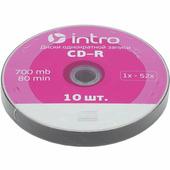 Диск CD-R INTRO 52X 700МB Shrink 10