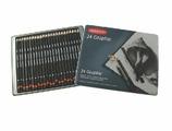 Набор чернографитовых карандашей Graphic 24 шт. в металлической упаковке Derwent 34202
