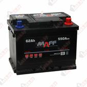 Аккумулятор для легковых автомобилей MAFF Standart (62 A/h), 550А R+ низ.