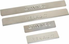 """Накладки внутренних порогов """"DolleX"""", для Renault Fluence, 4 шт"""