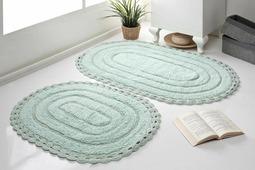 """Набор ковриков для ванной Karna """"Modalin. Yana"""", цвет: ментоловый, 2 шт"""