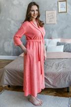 Длинный халат Кармен персиковый