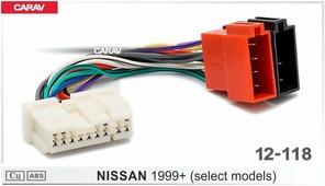 Переходник для подключения магнитолы CARAV 12-118 - Штатный ISO NISSAN 1999+