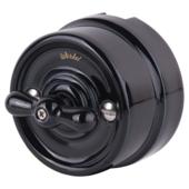 Выключатель Werkel WL18-01-03/ Переключатель одноклавишный (черный) Ретро